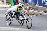 NEW YORK, NY, 06.11.2016 - MARATONA-NEW YORK - Tiffiney Perry da Nova Zelandia durante chegada no Central Park da Maratona Internacional de New York  nos Estados Unidos neste domingo, 06.(Foto: William Volcov/Brazil Photo Press)