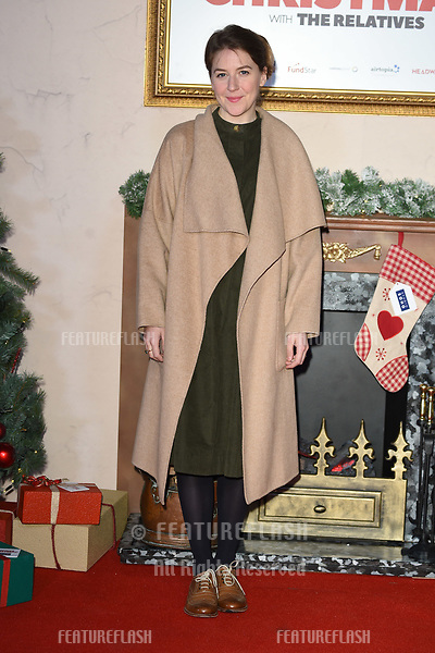 "LONDON, UK. November 21, 2018: Gemma Whelan at the ""Surviving Christmas with the Relatives"" premiere at the Vue Leicester Square, London.<br /> Picture: Steve Vas/Featureflash"