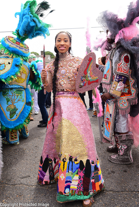 Queen Tahj Williams of the Golden Eagles, Super Sunday, Central City, 2019