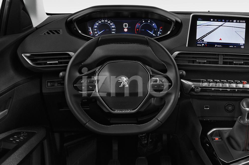 Car pictures of steering wheel view of a 2018 Peugeot 3008 Active 5 Door SUV