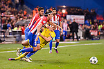 Atletico de Madrid's player Koke Resurrección and Filipe Luis and CF Rostov's player Andrei Prepelita during a match of UEFA Champions League at Vicente Calderon Stadium in Madrid. November 01, Spain. 2016. (ALTERPHOTOS/BorjaB.Hojas)