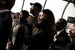 January 24, 2008. Spartanburg, SC.. Presidential candidate and former US senator, John Edwards campaigned across the western part of South Carolina today in an effort to shore up support before Saturday's primary election.. Actress Madeline Stowe was with Edwards for part of his trip across the state.