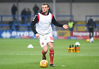 Fleetwood Town's James Wallace during the pre-match warm-up <br /> <br /> Photographer Hannah Fountain/CameraSport<br /> <br /> The EFL Sky Bet League One - Rochdale v Fleetwood Town - Saturday 19 January 2019 - Spotland Stadium - Rochdale<br /> <br /> World Copyright © 2019 CameraSport. All rights reserved. 43 Linden Ave. Countesthorpe. Leicester. England. LE8 5PG - Tel: +44 (0) 116 277 4147 - admin@camerasport.com - www.camerasport.com