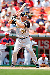 30 June 2005: Michael Restovich, outfielder for the Pittsburgh Pirates, at bat during a game against the Washington Nationals. The Nationals defeated the Pirates 7-5 to sweep the 3-game series at RFK Stadium in Washington, DC.  Mandatory Photo Credit: Ed Wolfstein