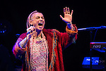 © Joel Goodman - 07973 332324 . 15/09/2013 . Bury , UK . SINEAD O'CONNOR performing as the closing act of the Ramsbottom Festival , in Bury , this evening (Sunday 15th September) . The singer made headlines recently after revealing new tattoos of the letters B and Q on each of the cheeks of her face . Photo credit : Joel Goodman