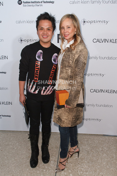 PJ Pascual and Yaz Hernandez arrive at the Future of Fashion 2017 runway show at the Fashion Institute of Technology on May 8, 2017.