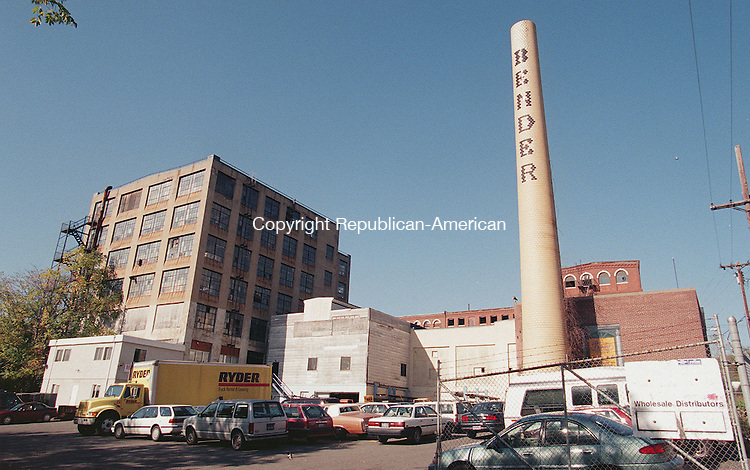 WATERBURY, CT 10/20/98--1019TK09.tif  The former Benrus Clock Co. now home to Bender Plumbing on Cherry Street in Waterbury.--TOM KABELKA staff photo for graphic illustration for a story on contaminated former clock factories.  (Filed in Scans/Scan-In)