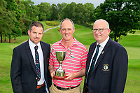 Stephen Madden Captain (L) Eddie McCormack (Galway Bay) winner with Michael Heeney Chairman Connacht Golf after the final of the 2018 Connacht Stroke Play Championship, Portumna Golf Club, Portumna, Co Galway.  10/06/2018.<br /> Picture: Golffile | Fran Caffrey<br /> <br /> <br /> All photo usage must carry mandatory copyright credit (&copy; Golffile | Fran Caffrey)