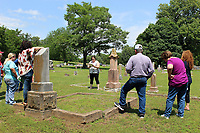 MEGAN DAVIS/MCDONALD COUNTY PRESS Tourists of the cemetery heard stories of the life, and death, of those that helped shape Southwest City on Saturday.