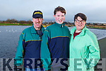Paudie, Eoin and Dympna Griffin at the Let's get Kerry walking, National Operation Transformation Walk in the Tralee Bay Wetlands on Saturday.