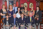 Captain's of Castleisland Golf Club John and Ma?ire Geaney presents the awards at their Captain's dinner in the River Island Hotel on Saturday night front row l-r: Babs Kelleher Lady President, John, Ma?ire Geaney, Con Daly President. Back row: Marian O'Connor, Moira Quinlan, Kevin Hannafin, Ann Hannafin, Paul Kelliher, Ann Stuart, Maria O'Connor and Jason McCarthy