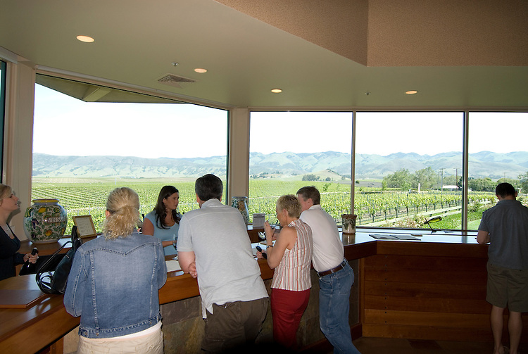 California, San Luis Obispo County: Wine country, Edna Valley Vineyard, tasting room..Photo caluis116-71011..Photo copyright Lee Foster, www.fostertravel.com, 510-549-2202, lee@fostertravel.com