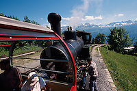 Brienzer Rothorn-Bahn im Berner Oberland, Schweiz,