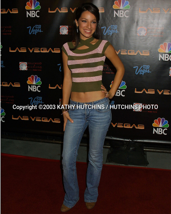 "©2003 KATHY HUTCHINS / HUTCHINS PHOTO.PARTY TO HONOR OPENING OF ""LAS VEGAS"" TV SHOW.HOLLYWOOD, CA.SEPTEMBER 16, 2003..VANESSA LENGIES"