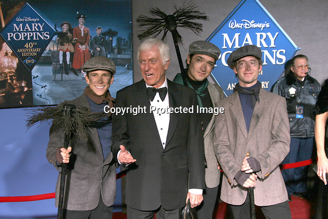 Dick Van Dyke with chimney sweeps<br />