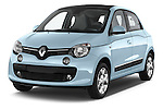 2015 Renault Twingo Intens 5 Door Hatchback 2WD Angular Front stock photos of front three quarter view