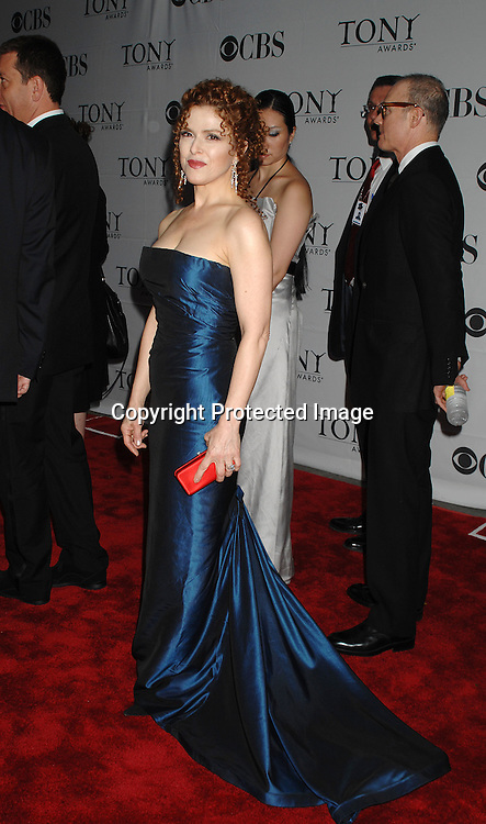 Bernadette Peters..arriving at The 2007 Tony Awards on June 10, 2007 at ..Radio City Music Hall. ..Robin Platzer, Twin Images......212-935-0770