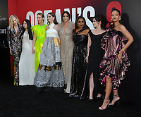 NEW YORK, NY - June 5: Cate Blanchett, Awkwafina, Sarah Paulson, Anne Hathaway, Sandra Bullock, Mindy Kaling, Helena Bonham Carter, Rihanna attends 'Ocean's 8' World Premiere at Alice Tully Hall on June 5, 2018 in New York City. <br /> CAP/MPI/JP<br /> &copy;JP/MPI/Capital Pictures