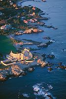 House on Ocean Drive,  aerial, Newport, RI