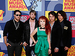 LOS ANGELES, CA. - September 07: Musicians Paramour arrive at the 2008 MTV Video Music Awards at Paramount Pictures Studios on September 7, 2008 in Los Angeles, California.