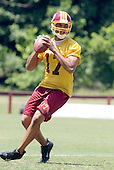 Washington Redskins quarterback Jason Campbell (17) works on passing drills during the team's mini-camp at Redskins Park in Ashburn, Virginia on June 16, 2006.<br /> Credit: Arnie Sachs / CNP