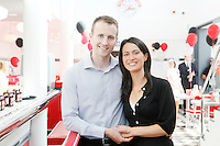 25/8/2011.Matt and Kelly Finn the first Eddie rockets franchisee in Kildare are pictured at the opening of the new Eddie Rockets City Diner in Nass Co Kildare. Picture James Horan/Collins Photos