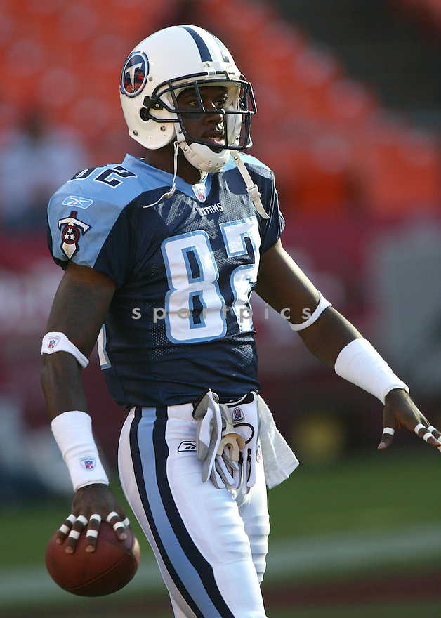 Courtney Roby, of the Tennessee Titans, during game action against San Francisco 49ers on August 26, 2005...49ers win 16-13...SportPics