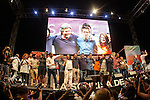Spanish politician Alberto Garzon, Carolina Bescansa, Monica Oltra, Irene Montera, Inigo Errejon and Pablo Iglesias during the closing of the electoral campaign of Unidos Podemos. 24,06,2016. (ALTERPHOTOS/Rodrigo Jimenez)