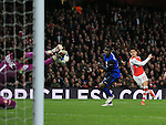 Arsenal's Alexis Sanchez sees his shot saved by Monaco's Danijel Subasic<br /> <br /> Champions League - Arsenal  vs AS Monaco  - Emirates Stadium - England - 25th February 2015 - Picture David Klein/Sportimage