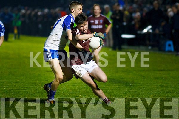 Cian O'Shea of Dromid attempts to go deep into the Knocknagee defence during the Munster Junior final in Mallow on Sunday last.