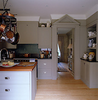 The kitchen was designed by Paolo Moschino who chose to keep the doorway to the dining room open