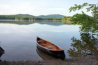 Canoeing on Lake Ninevah in Mount Holly, Vermont