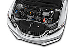 Car Stock 2015 Honda Civic Sedan NGV 2 Door  Engine high angle detail view