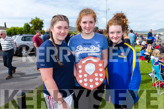 The Callinafercy U14 crew who took gold at the Valentia Regatta on Monday pictured l-r; savannagh Clifford, Avril Murphy, Charlotte Orme, missing were Caoimhe Ferris & Kieran O'Sullivan(cox).