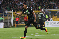 BOGOTA -COLOMBIA. 30-09-2016.Daniel Bocanegra jugador de  Atlético Nacional  celebra su gol contra La Equidad  durante encuentro  por la fecha 15 de la Liga Aguila II 2016 disputado en el estadio Metropolitano de Techo./ Daniel Bocanegra player of Atletico Nacional  celebrates his goal against La Equidad  during match for the date 15 of the Aguila League II 2016 played at Metropolitano stadium . Photo:VizzorImage / Felipe Caicedo  / Staff