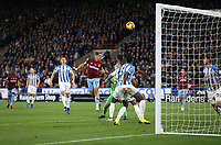 West Ham United's Javier Hernandez misses with a second half header<br /> <br /> Photographer Rob Newell/CameraSport<br /> <br /> The Premier League - Huddersfield Town v West Ham United - Saturday 10th November 2018 - John Smith's Stadium - Huddersfield<br /> <br /> World Copyright © 2018 CameraSport. All rights reserved. 43 Linden Ave. Countesthorpe. Leicester. England. LE8 5PG - Tel: +44 (0) 116 277 4147 - admin@camerasport.com - www.camerasport.com