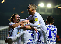 Leeds United players celebrate after taking the lead through an own goal<br /> <br /> Photographer Alex Dodd/CameraSport<br /> <br /> The EFL Sky Bet Championship - Leeds United v Blackburn Rovers - Wednesday 26th December 2018 - Elland Road - Leeds<br /> <br /> World Copyright © 2018 CameraSport. All rights reserved. 43 Linden Ave. Countesthorpe. Leicester. England. LE8 5PG - Tel: +44 (0) 116 277 4147 - admin@camerasport.com - www.camerasport.com
