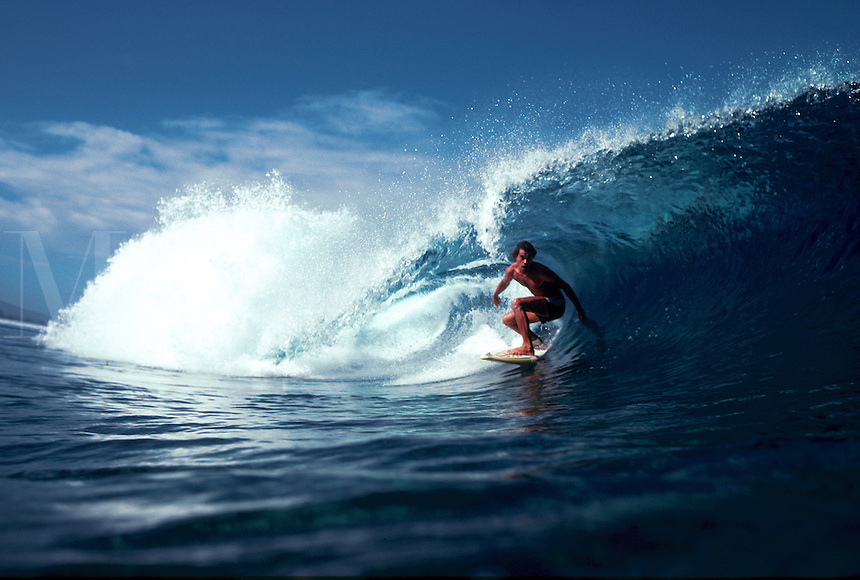 Surfing in Tahiti, French Polynesia