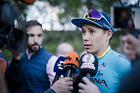 Miguel Angel Lopez (COL/Astana) interviewed after finishing 4th in the opening stage<br /> <br /> Stage 1 (ITT): Bologna to Bologna/San Luca (8.2km)<br /> 102nd Giro d'Italia 2019<br /> <br /> ©kramon