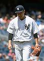 Masahiro Tanaka (Yankees), JULY 23, 2015 - MLB : New York Yankees starting pitcher Masahiro Tanaka looks down during a baseball game against the Baltimore Orioles at Yankee Stadium in New York, United States. (Photo by AFLO)