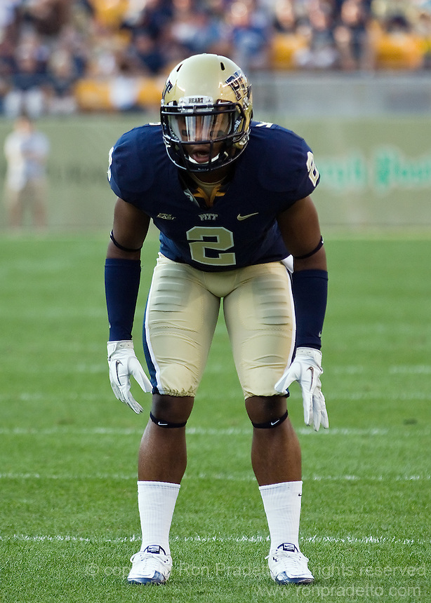 Pitt defensive back K'Waun Williams. The Pittsburgh Panthers beat the Buffalo Bulls 35-16 at Heinz field in Pittsburgh, Pennsylvania on September 3, 2011