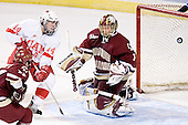 Joe Rooney, Geoff Smith, Cory Schneider - The Boston College Eagles defeated the Miami University Redhawks 5-0 in their Northeast Regional Semi-Final matchup on Friday, March 24, 2006, at the DCU Center in Worcester, MA.