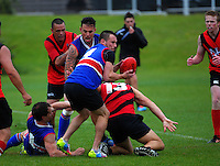 Action from the Wellington Australian Rules Football club final match between the Bulldogs and North City Demons at Hutt Park, Wellington, New Zealand on Saturday, 22 November 2014. Photo: Dave Lintott / lintottphoto.co.nz
