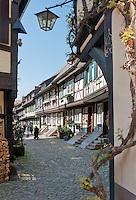 Germany, Baden-Wurttemberg, Black Forest, Gengenbach: Engelgasse lane | Deutschland, Baden-Wuerttemberg, Schwarzwald, Gengenbach im Ortenaukreis: die Engelgasse
