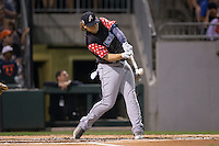 Kyle Jensen of the Reno Aces connects for a home run in the final round of the 29th Annual Triple-A Home Run Derby at BB&T BallPark on July 11, 2016 in Charlotte, North Carolina.  Jensen lost to Chris Marrero (not pictured) of the Pawtucket Red Sox by a score of 18-17. (Brian Westerholt/Four Seam Images)