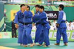 Men's Japan National Team Group (JPN), .April 21, 2013 - Judo : .Asian Judo Championships 2013, Men's Team Competition Final .at Bangkok Youth Centre, Bangkok, Thailand. .(Photo by Daiju Kitamura/AFLO SPORT) [1045]