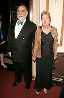 Presenter Francis Ford Coppola and wife Eleanor at the 3rd Annual Directors Guild Of America Honors at the Waldorf-Astoria in New York City. June 9, 2002. <br />