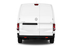 Straight rear view of a 2015 Nissan NV200 Visia 5 Door Cargo Van stock images