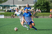 Boston, MA - Saturday June 24, 2017: Makenzy Doniak, Adriana Leon and Tiffany Weimer during a regular season National Women's Soccer League (NWSL) match between the Boston Breakers and the North Carolina Courage at Jordan Field.