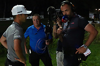 Matthias Schwab (AUT) & Andrew Coltart during the final round of the Turkish Airlines Open, Montgomerie Maxx Royal Golf Club, Belek, Turkey. 10/11/2019<br /> Picture: Golffile | Phil INGLIS<br /> <br /> <br /> All photo usage must carry mandatory copyright credit (© Golffile | Phil INGLIS)